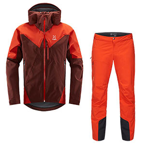 Haglöfs - Ensemble homme L.I.M Touring PROOF Veste + Pantalon (Maroon red)