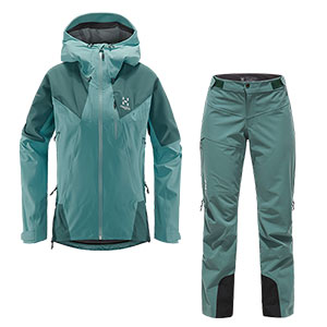 Haglöfs - Ensemble femme L.I.M Touring PROOF Veste + Pantalon (Glacier green/willow green)